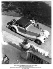 Two women with a Mercedes-Benz 500k convertible car  Germany  1934.