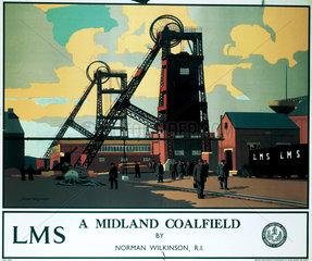 'A Midland Coalfield'  LMS poster  c 1935.