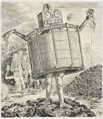 Cartoon of a 'gas monster'  1880-1900.