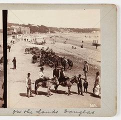 On the sands Douglas  about 1900 .