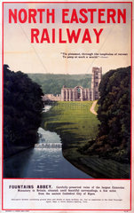 'Fountains Abbey'  NER poster  1900-1922.