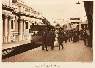 The All-Red Route Railway  Crystal Palace  Sydenham  1911.