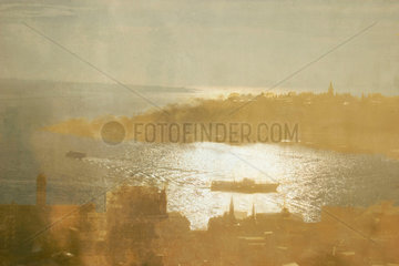 The Seraglio Point seen from the Galata Tower  Istanbul  c 2004.