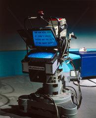 Autocue equipment  1986.