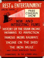 'Rest & Entertainment'  film poster  1937.