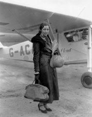 Amy Johnson  British aviator  8 November 1932.