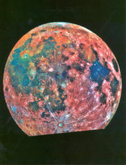 False colour view of the moon  April 1993.