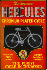 'Hercules chromium plated cycle'  poster  c 1930s.