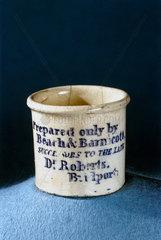 Dispensing pot  English  1860-1885.