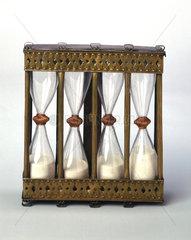 Four-way sand glass  Italian  17th century.