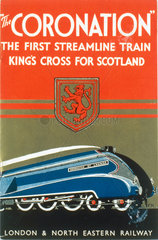 Brochure promoting 'The Coronation' LNER train  1937-1939.