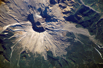 Mount St Helens from space  2002.