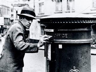 Posting a letter  3 September 1936.