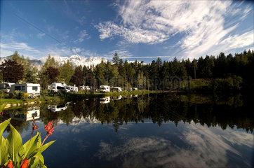 Campsite on the Natterer See  near Innsbruck  Austria  2007.