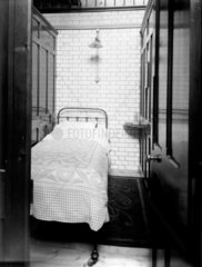 Cubicle in the enginemen's dormitory at Stratford in East London  c 1911.