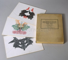 Set of ten Rorschach inkblot tests  1921.