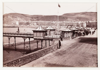 'Aberystwyth  Marine Terrace and Entrance to Pier  No 2'  c 1880.