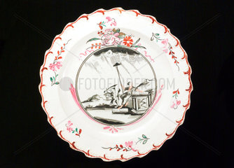 Creamware plate  English  18th to 19th century.
