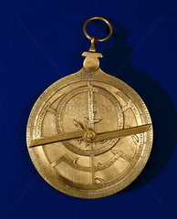 Brass planispheric astrolabe with Gothic script  1495-1505.