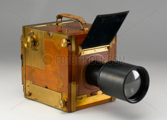 Adams 'Minex' single lens reflex camera  c 1910.
