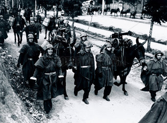 Brigade leaving for the Madrid Front  Spanish Civil War  1936-1939.