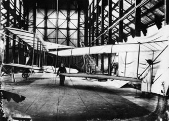 Cody Aeroplane No1A whilst being converted to the 1B  1908.