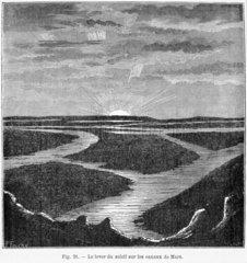 Martian canals  1884.