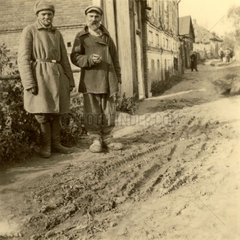 Russian peasants  Second World War  1940s.