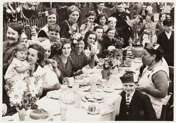 Tea party  Battersea  London  1937.