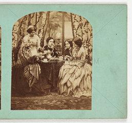 Taking tea  c 1870 .