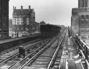 Liverpool Overhead Railway  February 1955.