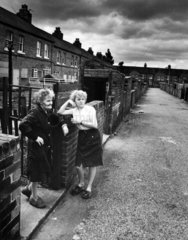 Women during the miners' strike  Fitzwilliam  Yorkshire  June 1984.