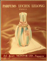 'Passionnement' perfume  poster advertisement  early 20th century.