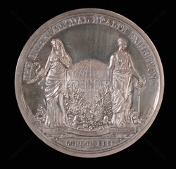 Medal commemorating the International Health Exhibition  1884.
