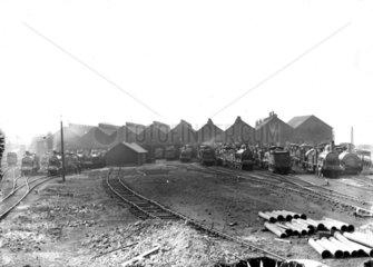Polmadie Shed  Glasgow  c 1890.