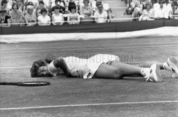 Virginia Wade  British tennis player  Wimbledon  1983.