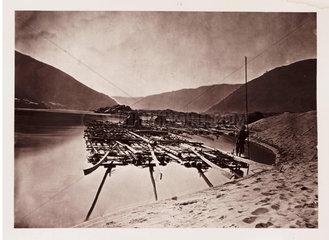 'A Pine Raft'  c 1871.