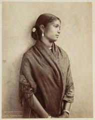 Kandian woman  Ceylon  c 1870.