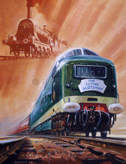'The Flying Scotsman'  original watercolour for a BR poster  1962.