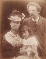 George Louis Palmella Busson du Maurier with his wife and daughter