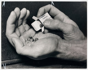 ''Cold Cure' pills warning'  1950