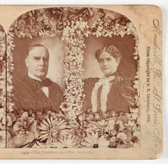 'The President and Mrs McKinley'  1896 .