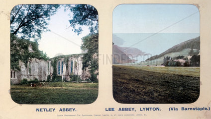 Netley Abbey  Hampshire  and Lee Abbey  Lynton  Devon  1910s.