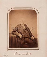 Thomas de la Rue  printer  1854-1866.