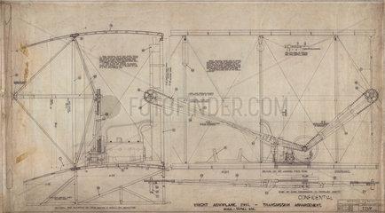 Transmission arrangement of Wright 'Flyer'  1903.