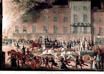 'London Fire Engines'  c 1825.