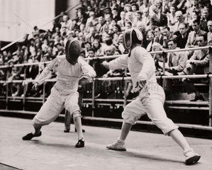 Olympic fencing win for Britain  10 August 1948.