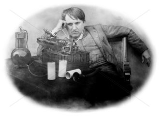 Thomas Edison  American inventor  1889.