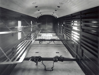 Interior of a LMS luggage and parcel van  22 May 1933.