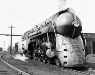 J-3a 'Hudson' New York Central 4-6-4 steam locomotive No 5447  USA  1941.